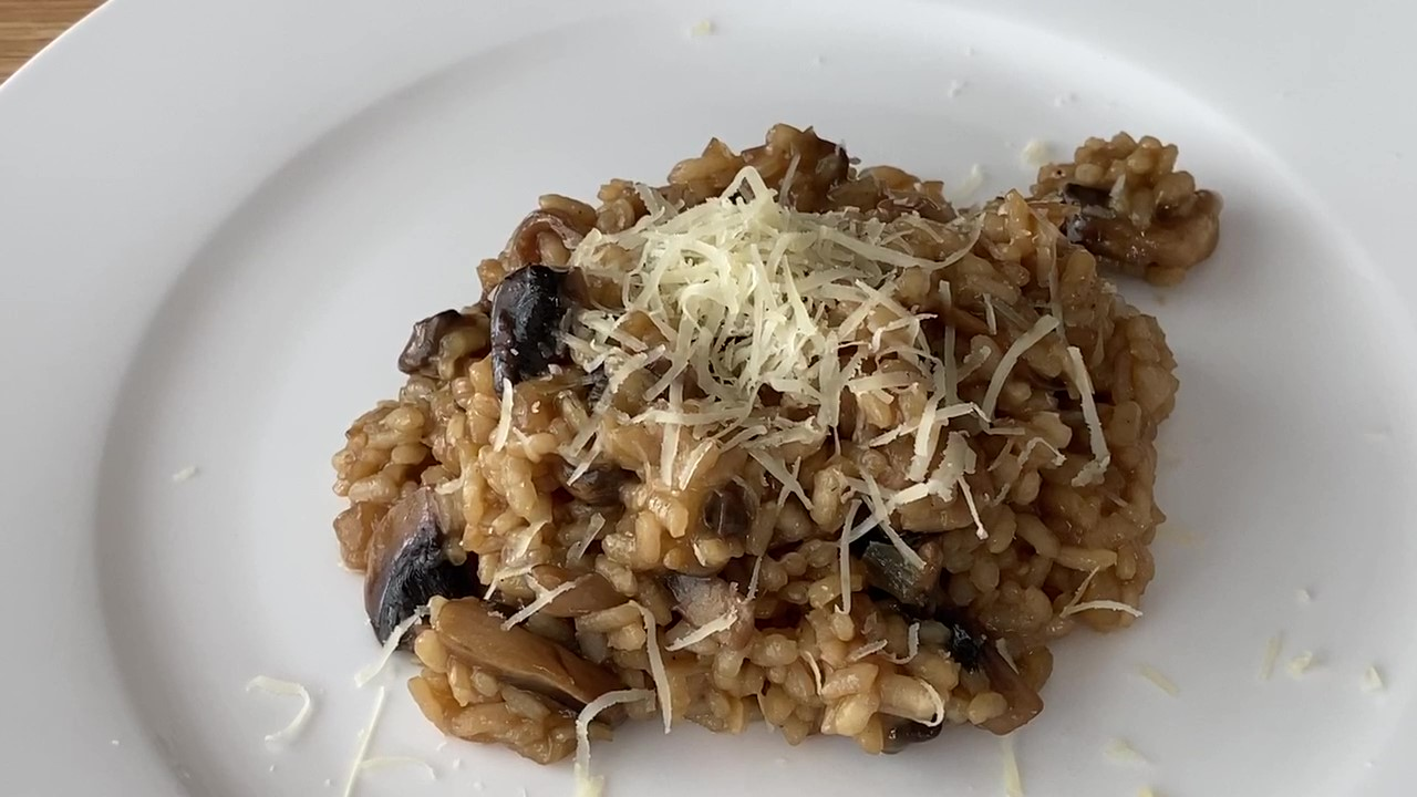 Creamy Risotto with mushroom – Low Calorie Option